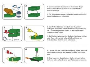 Universal Klebstoff MIDIAR zum Kleben von Vielem Set: 60g Kleber+60g Granulat
