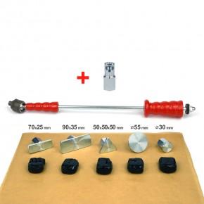 Klebesystem: Zughammer mit Colafria als Ausbeulwerkzeug